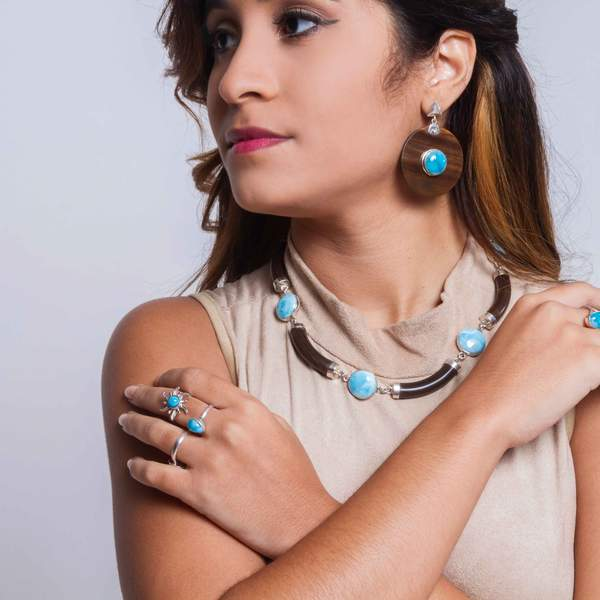 How to Wear Larimar Jewelry By Gina Cole