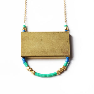Larissa Loden Jewelry  - Rectangular U Necklace