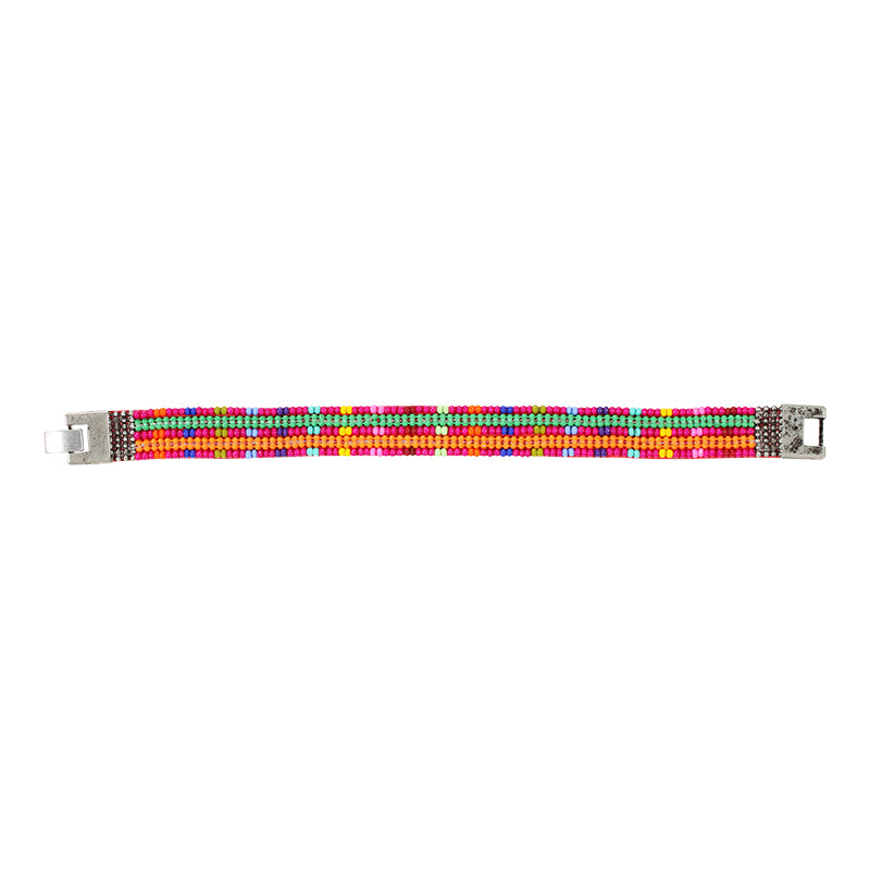 Erik & Mike - Soan Plaid Bracelet in Rainbow