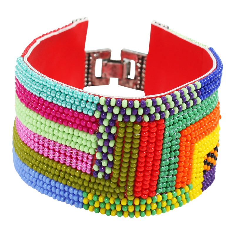 Erik & Mike - Soan Blocked Stripes Bracelet in Multi-Color