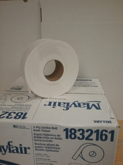 "Bath Tissue - Mayfair Jumbo 9"" Rolls"