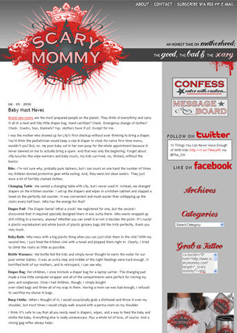 scary mommy - baby must have