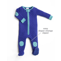 baby pajama with a zipper for diaper changes