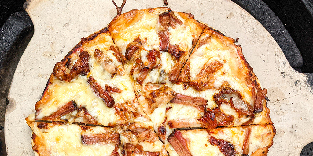 Low Cal Mixed BBQ meat pizza