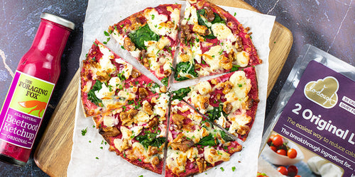 Beetroot, Goats Cheese & Walnut Pizza