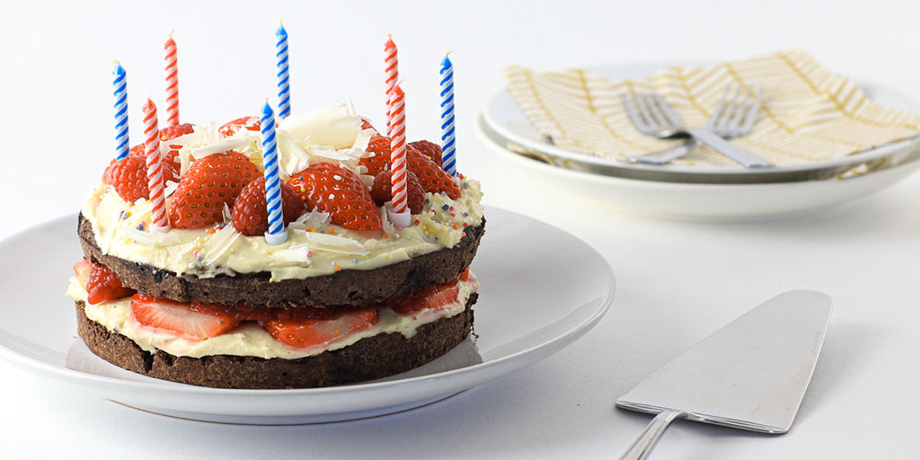 Lo-Dough Brownie Birthday Cake