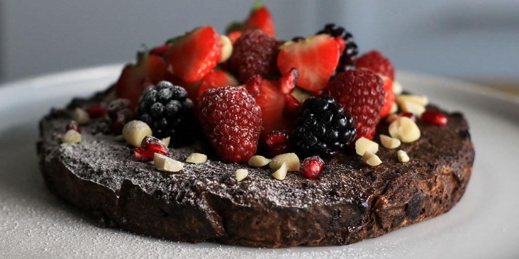 Low-Carb Festive Brownie Cake