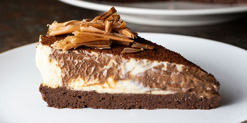 Chocolate Ripple Baked Cheesecake