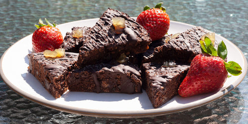 Low-Calorie Stem Ginger Brownies