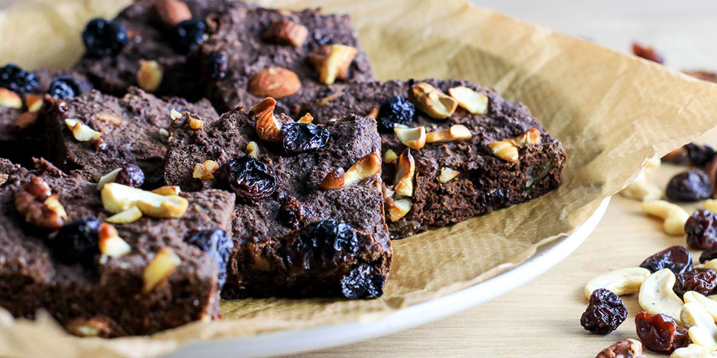 Low-Cal Fruit and Nut Brownies