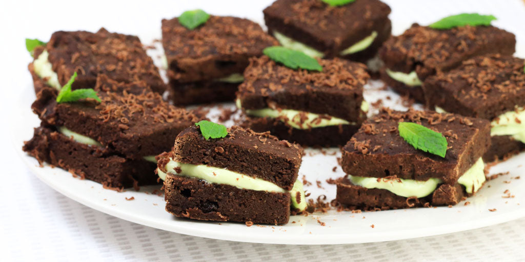 Low-Calorie Mint Cream Brownies