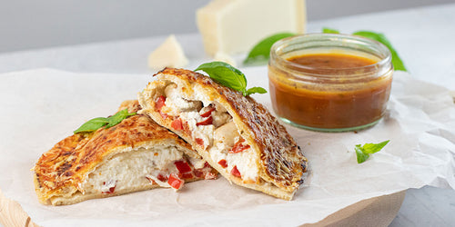 Sausage & Roasted Pepper Calzone