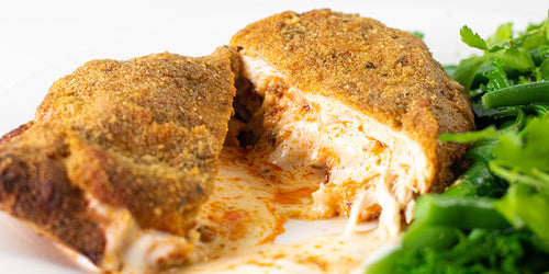 Red Pesto & Soft Cheese Stuffed Chicken Kiev