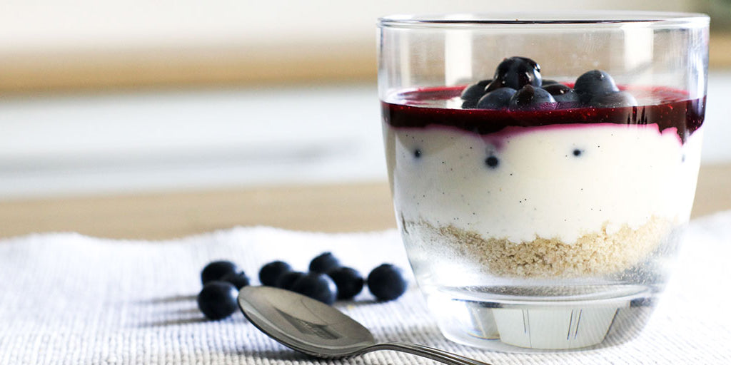 Low-Calorie Blueberry Cheesecake