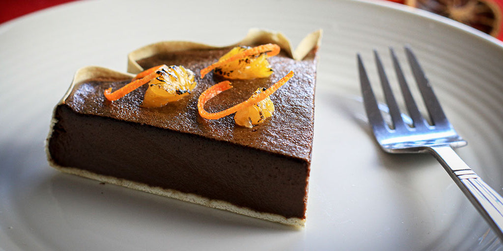 Low-Carb Chocolate & Orange Tart