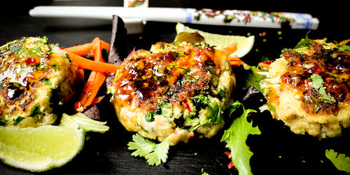 Low-Calorie Thai Crab Cakes