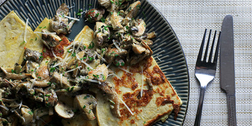 Low-Carb Mushrooms On French Toast
