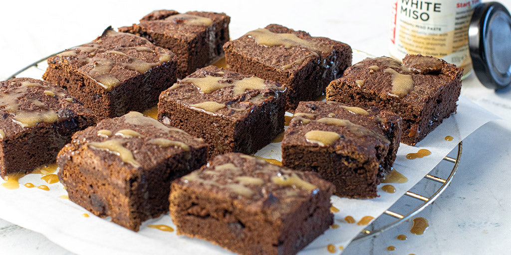 Low Calorie Miso Brownies