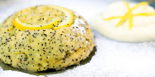 Low Calorie Lemon & Poppy Seed Mug Cake
