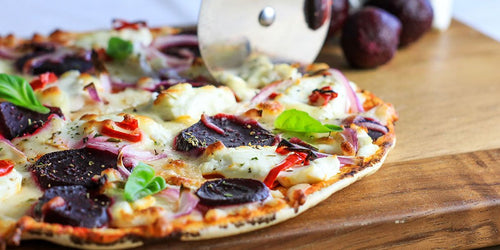 Creamy Goat's Cheese & Beetroot Pizza
