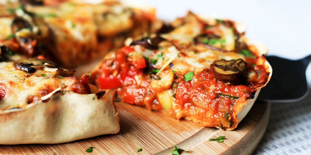 Low-Calorie Veggie Deep Dish Pizza