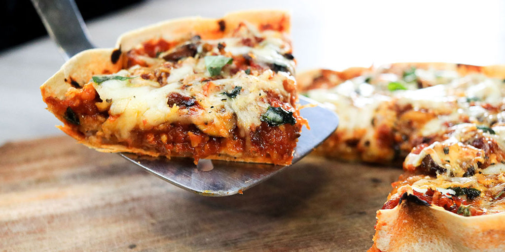 Low-Calorie Deep Dish Pizza