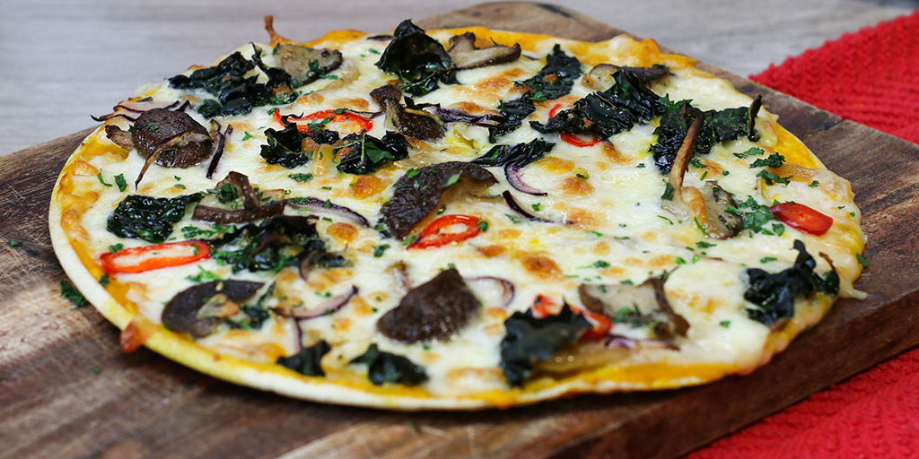 Low-Carb Pumpkin Pizza with Autumn Veg