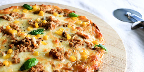 Low Calorie Tuna & Sweetcorn Pizza