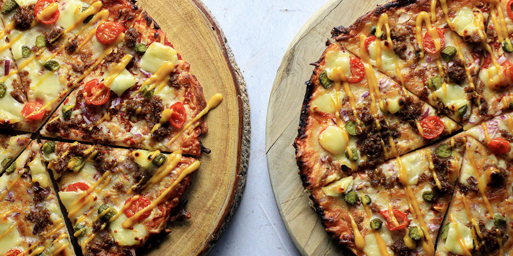 Ultimate Low-Cal Veggie Burger Pizza