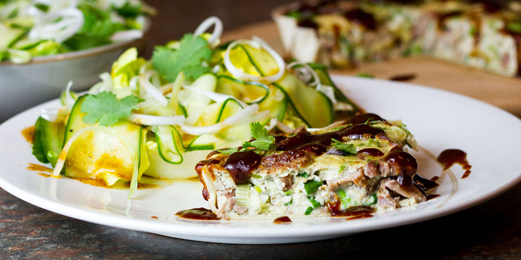 Low-Carb Hoisin Duck Quiche
