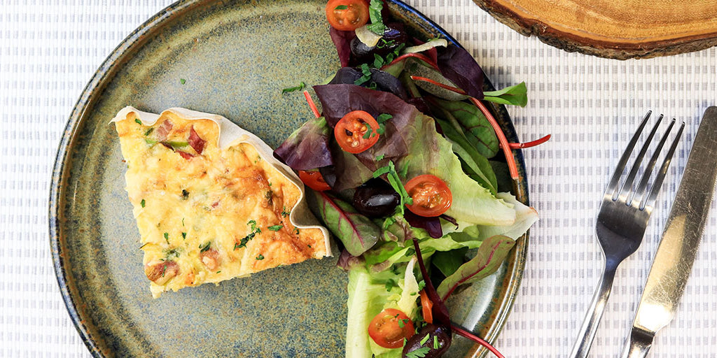 Leek, Bacon and Gouda Quiche