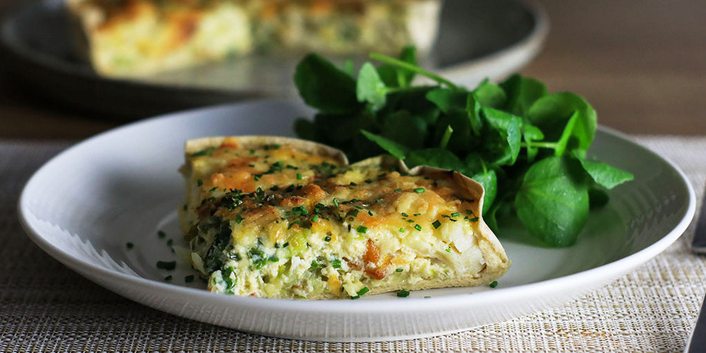 Low-Carb Smoked Haddock & Leek Quiche