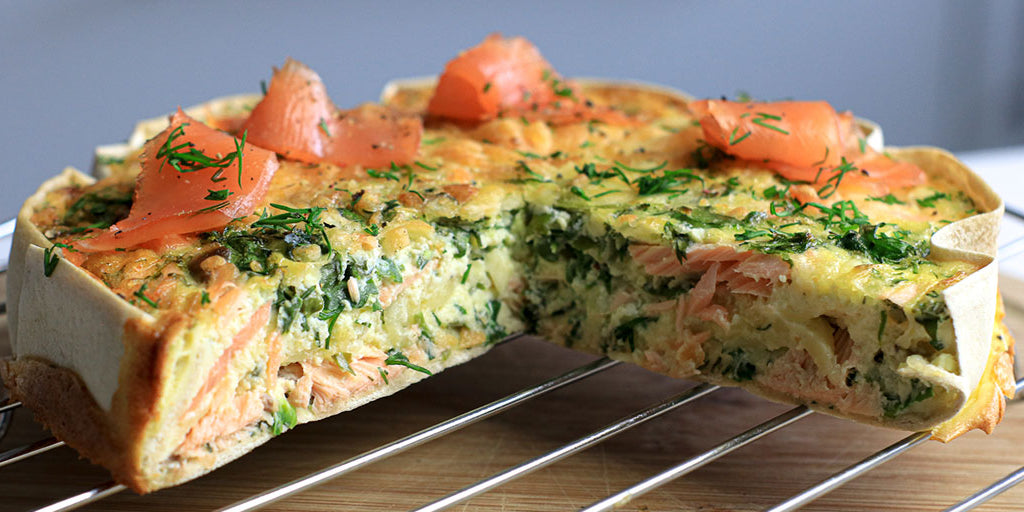 Ultra Low-Carb Smoked Salmon Breakfast Quiche