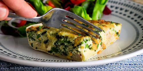 Low-Cal Roast Chicken & Broccoli Quiche