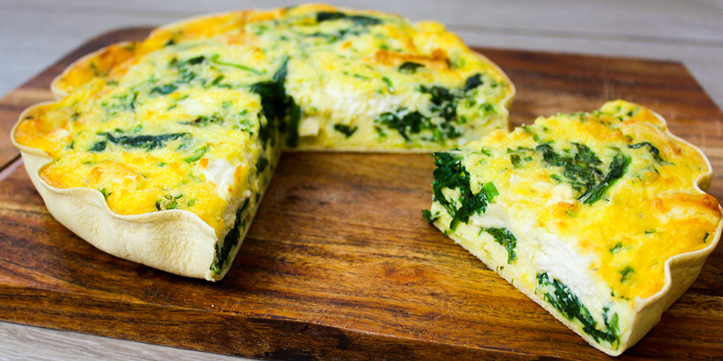 Spinach Goats Cheese Quiche Low Calorie Quiche Recipes Lo Dough