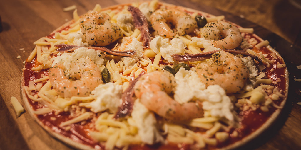 Salty Seafood Pizza
