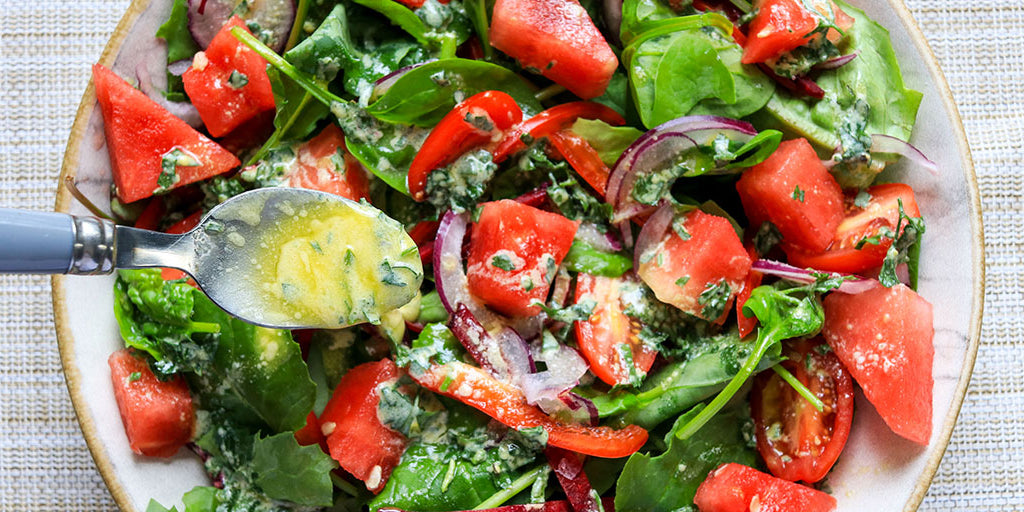 Low-Cal Side Salad and French Dressing