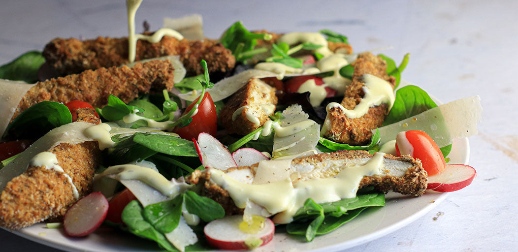 Photo of Low-Carb Breaded Chicken Salad