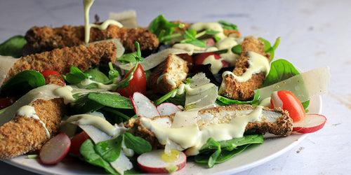 Low-Carb Breaded Chicken Salad