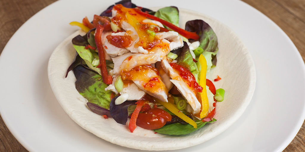 Sweet Chilli Chicken Amp Salad Wrap Low Calorie Recipes From Lo Dough Lo Dough