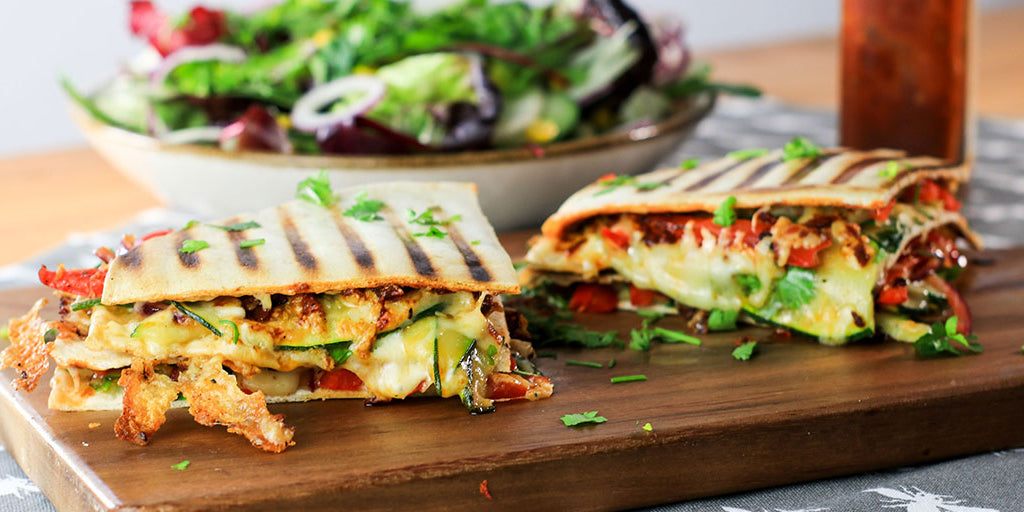 Low-Calorie Chipotle Veg & Cheese Toastie