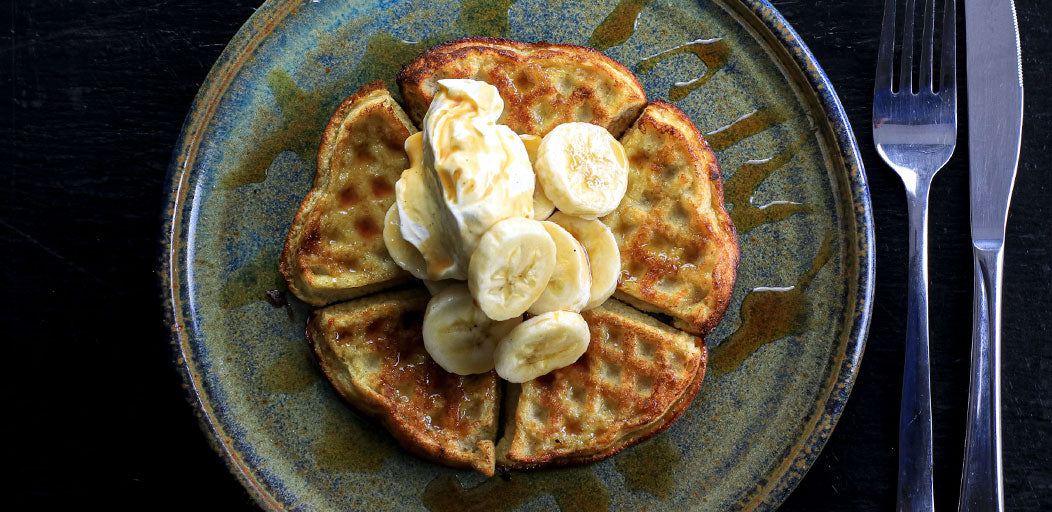 Banana Waffles With Low-Cal Syrup
