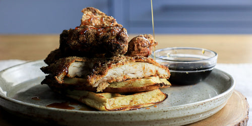 Low-Calorie Chicken & Waffles