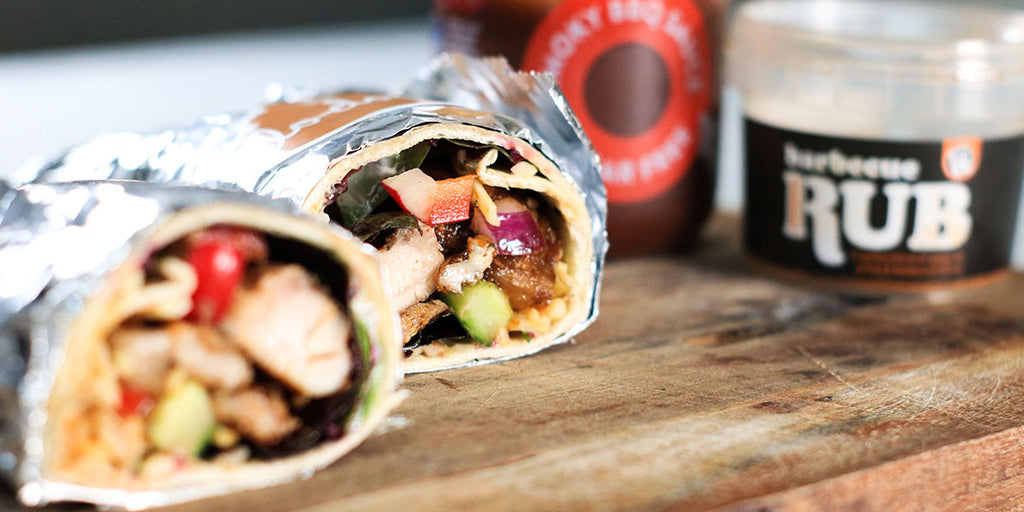 Protein-Packed BBQ Chicken Salad Wrap
