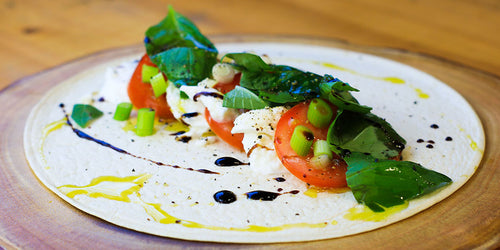 Low-Calorie Caprese Salad Wrap