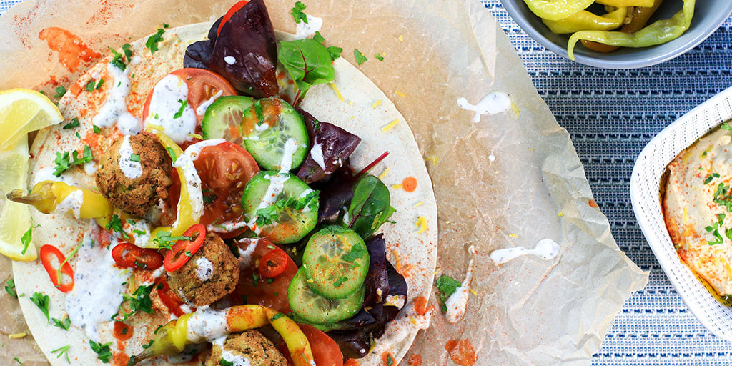 High-Fibre Falafel Wrap