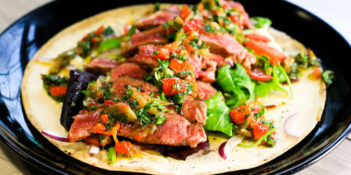 Low-Carb Steak Wrap with Chimichurri Sauce