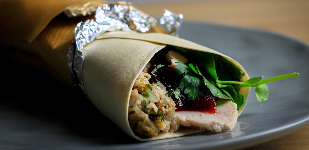 Low-Cal Turkey, Stuffing & Cranberry Wrap