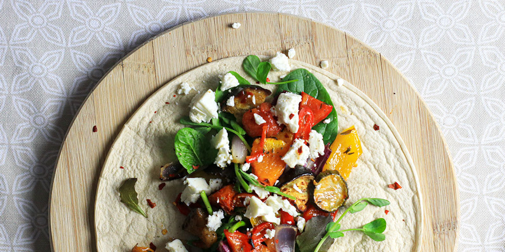 Feta and Roast Veg Wrap