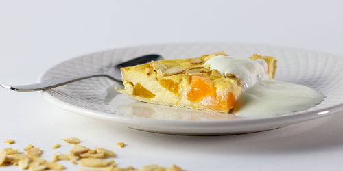 Low-Cal Peach & Almond Flan